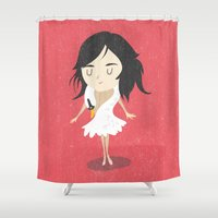 bjork Shower Curtains featuring Björk by Rod Perich