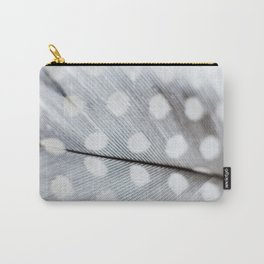 Polka Dot Feather Carry-All Pouch