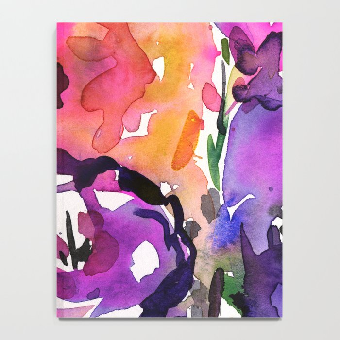 Floral Dance No. 5 by Kathy Morton Stanion Notebook