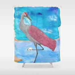 Artist Crane Shower Curtain