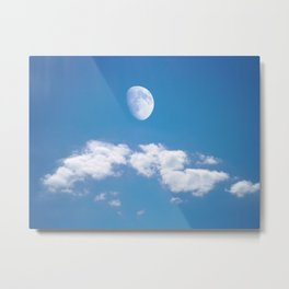 Daytime - Gibbous Moon Metal Print