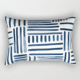 Navy Stripes of All Kinds Rectangular Pillow