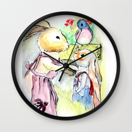 Watercolor from Rigley Rabbit and his Ginormous Floppy Ears Wall Clock