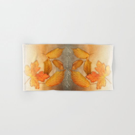 Autumn leaves in yellow and orange Hand & Bath Towel