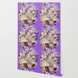 """""""Purple Lilies"""" Wallpaper"""