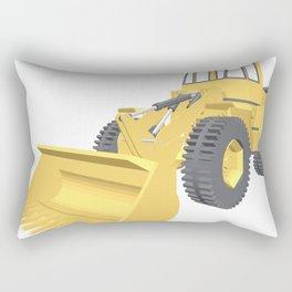 Bulldozer 3D projection vector. Rectangular Pillow