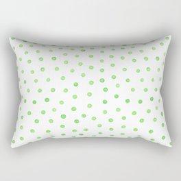 Pastel green polka dots Rectangular Pillow