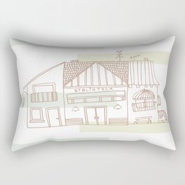 Library and Houses Rectangular Pillow