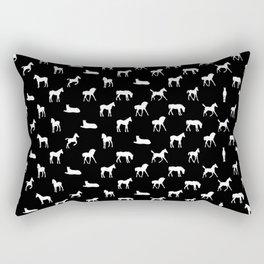 Foals All Over Pattern White Rectangular Pillow