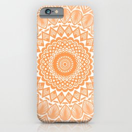Orange Tangerine Mandala Detailed Textured Minimal Minimalistic iPhone Case