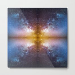 A mirrored  night sky photo Metal Print