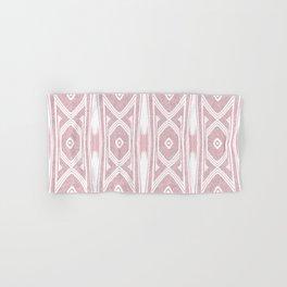 Velvety Tribal Shield Reverse in Pink Hand & Bath Towel