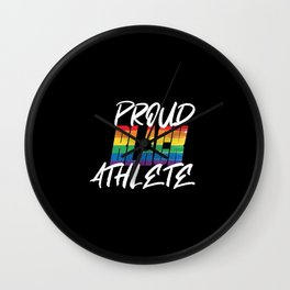 Proud Black Athlete Distressed Texture Wall Clock