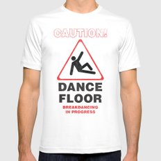 Cuation: breakdancing MEDIUM White Mens Fitted Tee