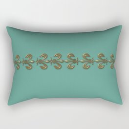 Turquoise Fleur-de-lis  Rectangular Pillow