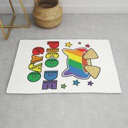 Gay Pride Gift Pico De Gayo Pico De Gallo Rainbow LGBT Rug