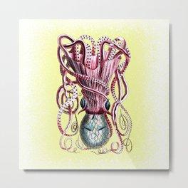 Pink Quantum Octopus Metal Print