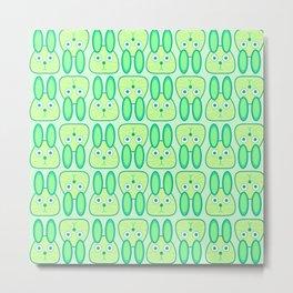 Bunny Rabbit Pastel Pattern Metal Print
