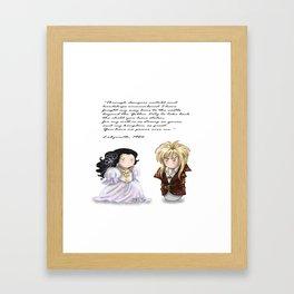 SW Couple+Halcon Framed Art Print