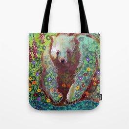 Fireweed Bear Tote Bag