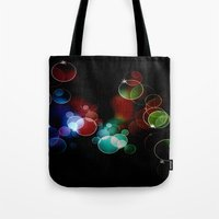 the lights Tote Bags featuring Lights by Digital-Art