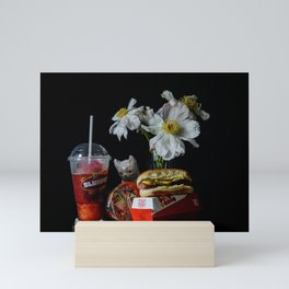 Hot Dog and Slurpee Still Life Mini Art Print