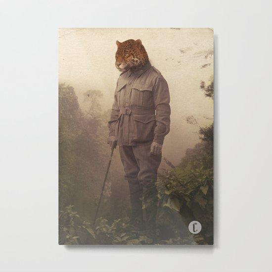 Jungle Jaguar Metal Print