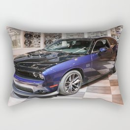 2017 80th Anniversary Two tone Auto Show MOPAR 17 Challenger Rectangular Pillow