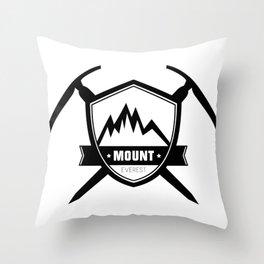 Mount Everest Ice Axe Badge Throw Pillow