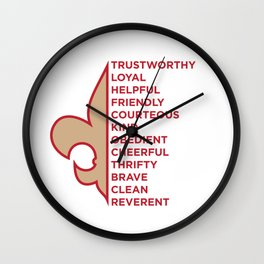 Scout Law Wall Clock