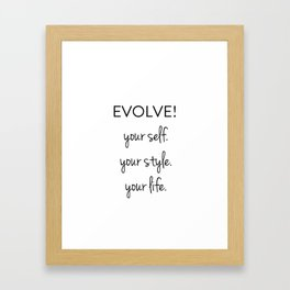 Evolve II Framed Art Print