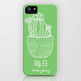 Cactus No.1 (mainichi) iPhone Case