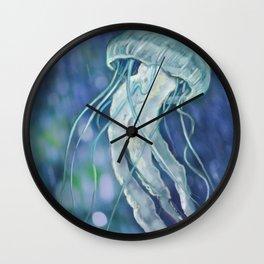 Bokeh Jellyfsh Wall Clock
