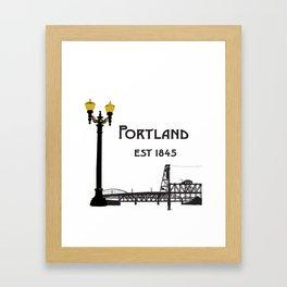 Historic Portland, Oregon by Seasons K Designs Framed Art Print