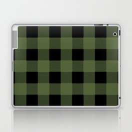 Green Buffalo Plaid Laptop & iPad Skin
