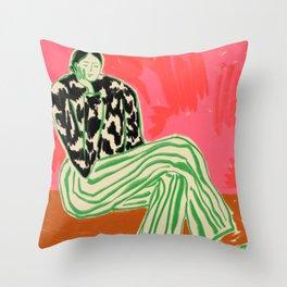 CALM WOMAN PORTRAIT Throw Pillow