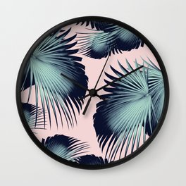 Fan Palm Leaves Paradise #8 #tropical #decor #art #society6 Wall Clock