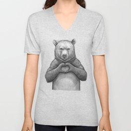 Bear with love Unisex V-Neck