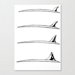 Surfboard fin transformation Canvas Print