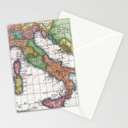 Vintage Map of Italy (1780) Stationery Cards