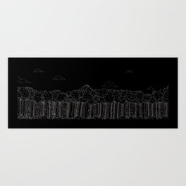 BigFoot Forest (Black and White) Art Print