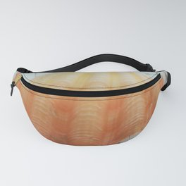 orange seshell in woven table Fanny Pack