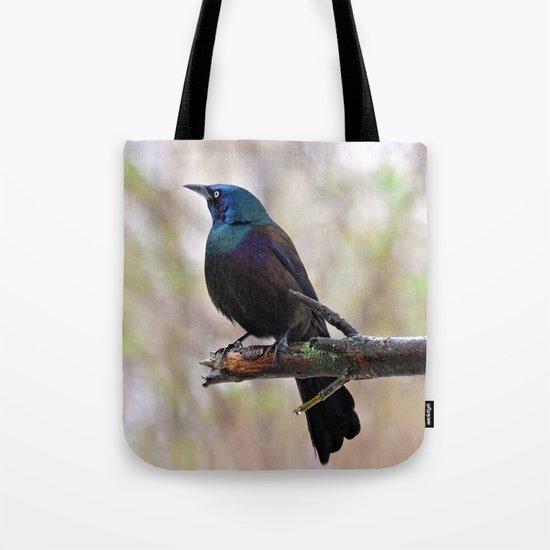 Yonder  (Common Grackle) Tote Bag