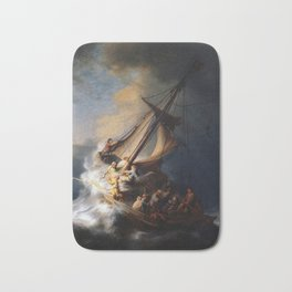 The Storm on the Sea of Galilee, Rembrandt Bath Mat