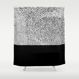 Dots and Black Shower Curtain