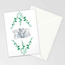 Koalas in Eucalyptus Stationery Cards