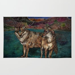 Wolf Love Rug