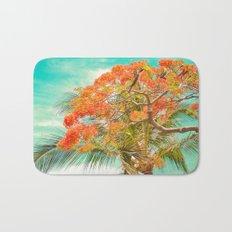 Summery Trees in Hawaii Bath Mat