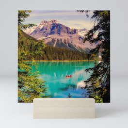 Canada Photography - Canoe In A Big Beautiful Lake Mini Art Print