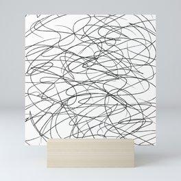Hand Drawn Scribbles (black/white) Mini Art Print